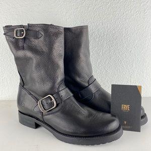 Frye Veronica short moto/combat boots